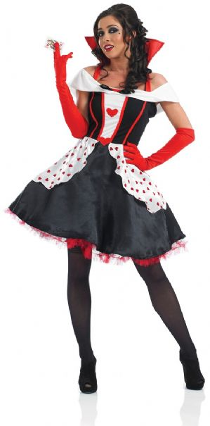 Queen of Hearts plus size ladies fancy dress costume